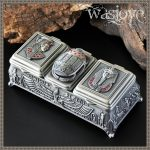 Multi-function Craft Metal Retro Greek Storage Box for Ring Eearring Necklace Organizer <b>Jewelry</b> Case Thearchy Mythology Type