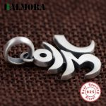BALMORA Authentic 925 Sterling Silver Six words' Mantra Sanskrit Pendants Women Men Accessories Gifts <b>Antique</b> <b>Jewelry</b> SY13249