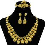 New African Charm Fashion Round <b>Jewelry</b> Sets Women Bride <b>Jewelry</b> <b>Accessories</b> Nigerian Queen Gold Necklace Earrings <b>Jewelry</b>