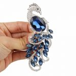 BELLA Fashion Elegant Blue Peacock Peafowl Brooch Austrian Crystal Rhinestone Animal Brooch Pin Women <b>Accessories</b> Party <b>Jewelry</b>