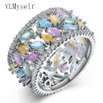 New News 2018 spring multi colorful ring new assorted color zirconia female <b>jewelry</b> Luxury <b>Accessories</b> Fashion women rings