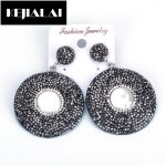 KEJIALAI Ethnic <b>Jewelry</b> Boho Rhinestone Round Drop Earrings for Women Vintage <b>Antique</b> Crystal Fresh Water Pearl Charm Birthday