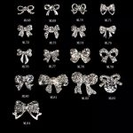 2017 new MLA077-144 New 100pcs 3D <b>Jewelry</b> Bow tie Shaped Nail <b>Art</b> <b>Deco</b> Deluxe Alloy <b>Jewelry</b> Glitter Rhinestone