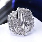 Trendy style Hot item Gold-color White Zircon <b>Jewelry</b> <b>jewelry</b> Bijoux zirconia <b>Accessories</b> Ladies Love gift Wedding Bridal Rings