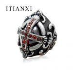 ITIANXI Greek Cross Gothic Zircon Ring Classic <b>Antique</b> Charms Man Finger Stainless Steel Ring Retro Fashion <b>Jewelry</b>