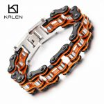 Kalen New Bike Link Chain Bracelets Men's 22cm Stainless Steel Heavy Chunky Bicycle Chain Bracelet Male <b>Jewelry</b> <b>Accessories</b> Gift