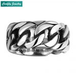 Gothic 316L Stainless Steel Round Rings For Men Retro Viking Punk Rebel <b>Antique</b> Men's Biker Ring <b>Jewelry</b> Gift Wholesale Anillos