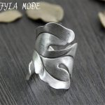 999 Silver <b>Jewelry</b> Ring For Women Thai Silver Ring Vintage Leaf Lady Ring Adjustable <b>Antique</b> Accessory Width 29mm Weight 6.60g