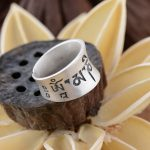 S990 silver <b>jewelry</b> wholesale Silver <b>Antique</b> Buddhist matte process six words a couple ring