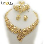 Women indian wedding <b>jewelry</b> sets Gold-color Party Bridal <b>Accessories</b> Costume <b>jewelry</b> sets Necklace Earrings <b>Jewelry</b> Sets