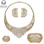 Dubai gold <b>jewelry</b> sets for women crystal big necklace bridal wedding <b>jewelry</b> set Italian ethiopian set Party <b>Accessories</b> Design