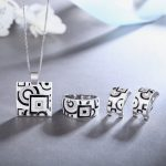 Hot <b>Jewelry</b> Sets earings fashion <b>jewelry</b> 2018 Enamel Necklace Ring 925 Sterling Silver Party Fashion for Women <b>Accessories</b> white