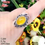 100% Sterling 925 Silver Ring <b>Jewelry</b> for Women Adjustable 10*14MM Ellipse Blank DIY Fittings BEADS Base Tray <b>Antique</b> Silver