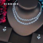 HIBRIDE Luxury Brilliant Cubic Zirconia Stone Dubai Women <b>Jewelry</b> Set Earring Sets Bride Dress <b>Accessories</b> Wholesale Price N-400
