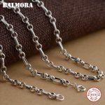 BALMORA 100% Real 925 Sterling Silver <b>Jewelry</b> Chains Necklaces for Men 22-32 inch Sterling Silver Necklace <b>Accessories</b> CK0003