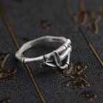 Deer King <b>jewelry</b> personality lovers ring S990 Silver <b>Antique</b> Crafts wholesale bamboo shape