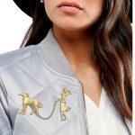 <b>Art</b> <b>Deco</b> 1920 Flapper Lady Gold Chian Greyhound Dog Hat Lapel Pin Badge Brooch <b>Jewelry</b>