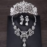 Silver Color Bridal <b>Jewelry</b> Sets Crystal Necklace Earring Crown For Women Tiara Wedding Hair <b>Accessories</b> Fashion <b>Jewelry</b> Sets