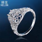 8X6mm Oval Antique <b>Art</b> <b>Deco</b> Filigree Semi Mount Antique <b>Jewelry</b> Engagement Wedding 925 Sterling Silver Ring Setting wholesale