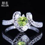 Solid 10K White Gold Trillion 5x5mm 100% Genuine Peridot & Diamonds Engagement Ring Vintage <b>Art</b> <b>Deco</b> Wedding Ring Fine <b>Jewelry</b>