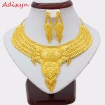 Adixyn NEW 45cm/18inch Fashion Necklace/Earrings/Ring <b>Jewelry</b> Set Women Gold Color Arab/Ethiopian <b>Jewelry</b> Wedding <b>Accessories</b>