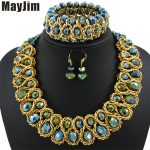 Statement necklace 2018 fashion <b>jewelry</b> sets Handmade beads chain crystal dubai <b>jewelry</b> sets Vintage beads Bijoux <b>Accessories</b>