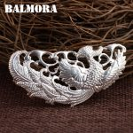 BALMORA 990 Pure Silver Phoenix Pendants for Women Vintage Silver <b>Jewelry</b> Necklace <b>Accessories</b> Gift Without a Chain SY10416