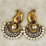 Vintage Faux Pearl Indian Jhumki Jhumka Drop Earrings Rhinestone <b>Antique</b> Gold Tribal Accessories Women Bridal Party <b>Jewelry</b>