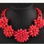 Red Shourouk necklace Kpop Designer brand luxury <b>jewelry</b> exaggerated chunky big flower Women wedding <b>accessories</b> wholesale/gift