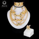 BAUS Exquisite Big Nigerian Wedding African Beads <b>Jewelry</b> Set Dubai Gold Color <b>Jewelry</b> Sets Ethiopia Women Bridal <b>Accessories</b>