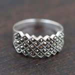 925 Sterling Silver Vintage Marcasite Rings <b>Antique</b> Style Thai Silver Shinning Fine <b>Jewelry</b> for Women Size 6 7 8 9