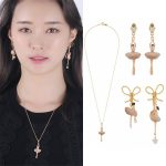 Ballet Dancer Girl ballerinas Earring Necklace <b>Jewelry</b> Sets For Women Lady Party <b>Accessories</b> Elegant All-match