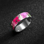 925 Sterling Silver Enamel Rose Flower Rings For Women <b>Accessories</b> wave love ring luxury <b>Jewelry</b> wedding Band Princess Gift New