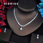 HIBRIDE Fashion Clear CZ Dubai Bridal <b>Jewelry</b> sets For Women <b>Accessories</b> Pendant Necklace Set Party <b>Jewelry</b> N-560