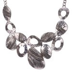 European Style Vintage <b>Jewelry</b> Statement Necklace <b>Antique</b> Copper/Silver Color Maxi Necklace Collares Women Party Gift N1737
