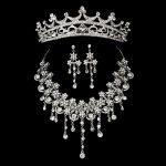 Korean flower Bridal Wedding headwear <b>Jewelry</b> Sets Womens Jewellery Vintage Crystal Pendant <b>Accessories</b> Fashion