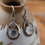 Deer King <b>jewelry</b> line S925 silver inlaid white Crystal Silver <b>Antique</b> Style female style wholesale