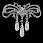 Luxury Full Cubic Zircon CZ Drop Dangle Brooch Pin Dress Pins Broach Wedding <b>Accessory</b> <b>Jewelry</b> B0021