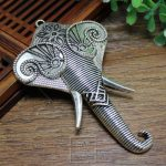 Exquisite <b>antique</b> silver copper imitation DIY Miao silver <b>jewelry</b> accessories lady Elephant Pendant