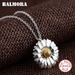 BALMORA 925 Sterling Silver Flower Pendant Necklaces for Women Mother Lover Gift 45cm Long Chain <b>Accessories</b> <b>Jewelry</b> JWJLWN80722