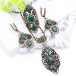 Vintage Turkish Flower Necklace Ethnic Resin <b>Jewelry</b> Collarbone Pendant Necklaces <b>Antique</b> Gold Arabesque Bridal Reception