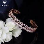 CC Bracelets For Women Vintage Double Design High Quality Shine Crystal Charm Bangle Wedding <b>Accessories</b> Bridal <b>Jewelry</b> S0088