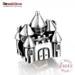 LZESHINE <b>Antique</b> 925 Sterling Silver <b>Jewelry</b> Castle Charm Beads for Bracelets Pendant <b>Jewelry</b> Making PSMB0063