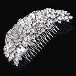 Stunning <b>Art</b> <b>Deco</b> Silver Clear Rhinestones Crystals Pearls Flower Wedding Hair Comb Bridal Hair Accessories Hair <b>Jewelry</b> Women