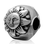 Sun And Moon <b>Antique</b> Tone Authentic 925 Sterling Silver Lock Clip Stopper European Charm Beads <b>Jewelry</b> Accessories SCSB007
