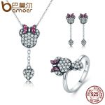 BAMOER 925 Sterling Silver <b>Jewelry</b> Set Sparking CZ Cartoon & Heart <b>Jewelry</b> Sets Wedding Engagement <b>Jewelry</b> <b>Accessories</b> ZHS042
