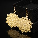 dongsheng Antique Gold Filigree <b>Jewelry</b> Chic cutout <b>art</b> <b>deco</b> floral Drop Earrings cocktail Party Earrings <b>Jewelry</b> -15