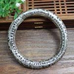<b>Antique</b> <b>Jewelry</b> Handmade Embossed carved copper imitation silver bracelet Miao silver bracelets