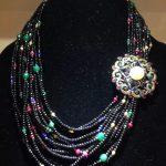 Bohemia <b>Antique</b> Multicolor Natural stone Necklace Multi layers Fashion Women <b>Jewelry</b>