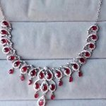 Extravagant water droplets Natural red ruby gem Necklace Natural gemstone Pendant Necklace 925 sliver women Girl wedding <b>Jewelry</b>